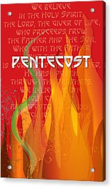 Pentecost Fires Acrylic Print
