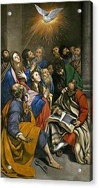 Pentecost Acrylic Print by Juan Bautista Maino