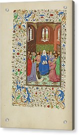 Pentecost Master Of Wauquelins Alexander Or Workshop Acrylic Print by Litz Collection