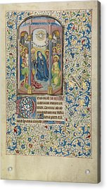 Pentecost Willem Vrelant, Flemish, Died 1481 Acrylic Print by Litz Collection