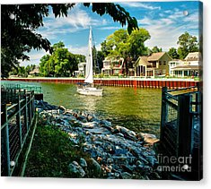 Pentwater Channel Michigan Acrylic Print by Nick Zelinsky