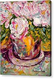 Peonies Acrylic Print by Barbara Pirkle