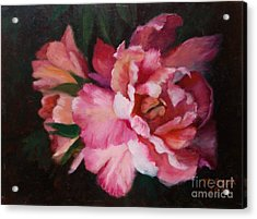 Peonies No 8 The Painting Acrylic Print
