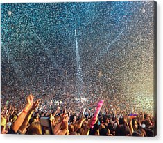 People At Concert Acrylic Print by Kevin Ocampo / Eyeem