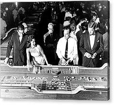 People At Craps Table Acrylic Print by Richard Waite