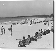 People At The Beach Acrylic Print