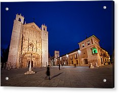 People Crossing From Church Of St. Paul Acrylic Print by Jesus Gonzalez