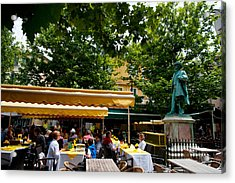 People In A Restaurant, Place Du Forum Acrylic Print by Panoramic Images