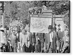 People March In Memory Of Negro Acrylic Print