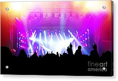 People On Music Concert Disco Party Acrylic Print by Michal Bednarek