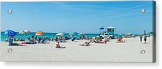 People On The Beach, Venice Beach, Gulf Acrylic Print by Panoramic Images