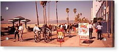 People Walking On The Sidewalk, Venice Acrylic Print by Panoramic Images