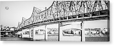 Peoria Bridge Panoramic Black And White Picture Acrylic Print