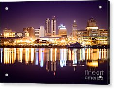 Peoria Illinois At Night Downtown Skyline Acrylic Print