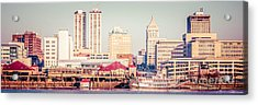 Peoria Illinois Skyline Retro Panorama Picture Acrylic Print