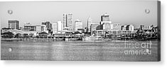Peoria Panorama Black And White Photo Acrylic Print