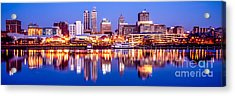 Peoria Skyline At Night Panorama Photo Acrylic Print