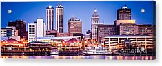 Peoria Skyline At Night Panoramic Picture Acrylic Print