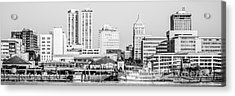 Peoria Skyline Panorama Black And White Picture Acrylic Print