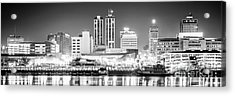 Peoria Skyline Panoramic Black And White Picture Acrylic Print