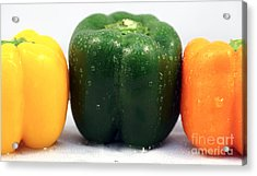 Pepper Colors Acrylic Print by John Rizzuto