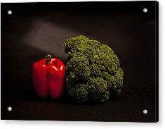 Pepper Nd Brocoli Acrylic Print