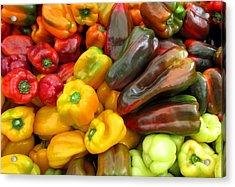 Pepper Rainbow Acrylic Print by Brenda Pressnall