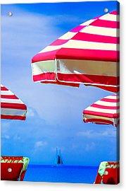 Peppermint Beach Acrylic Print