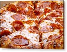Pepperoni Pizza 1 - Pizzeria - Pizza Shoppe Acrylic Print