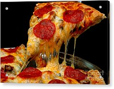 Pepperoni Pizza Slice Acrylic Print