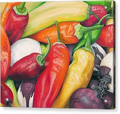 Peppers And Onions Acrylic Print
