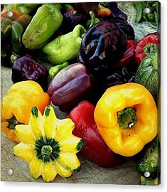 Peppers And Squash  Acrylic Print
