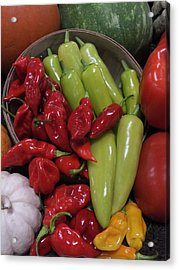 Peppers Etc. Acrylic Print by Christina Shaskus