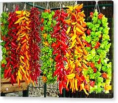 Acrylic Print featuring the photograph Peppers For Sale by Mike Ste Marie