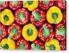 Peppers Acrylic Print by George Atsametakis