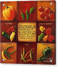 Pepper Facts  Acrylic Print