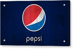 Pepsi Barn Sign Acrylic Print by Dan Sproul