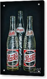 Pepsi Bottles From The 1950s Acrylic Print by Paul Ward