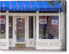 Pepsi Cola Birthplace Watercolor Acrylic Print