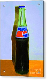 Pepsi Cola Bottle Acrylic Print by Wingsdomain Art and Photography