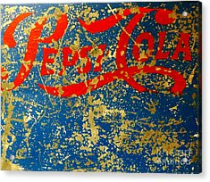 Pepsi Acrylic Print by Newel Hunter
