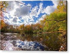 Pequotsepos Duck Pond Reflection   Acrylic Print