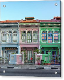 Peranakan Architecture Acrylic Print by Edward Tian