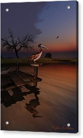 Acrylic Print featuring the digital art Perch With A View by Kylie Sabra