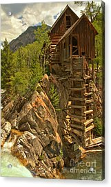 Perched On The Edge Acrylic Print by Adam Jewell