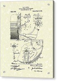 Percussion System 1909 Patent Art Acrylic Print