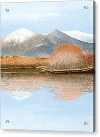 Percy Peaks Acrylic Print by Bruce Richardson