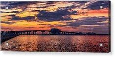 Acrylic Print featuring the digital art Perdido Bridge Sunrise by Michael Thomas