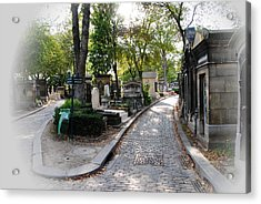 Pere Lachaise Cemetery Paris Acrylic Print by Jacqueline M Lewis
