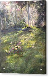 Pere Lachaise Spring Acrylic Print
